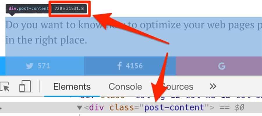 cách xác định kích thước chiều ngang của trang web